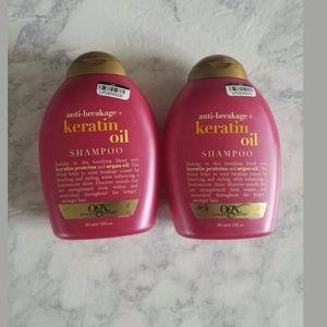OGX Anti-Breakage Keratin Oil Shampoo 13oz Lot of 2 New NWT